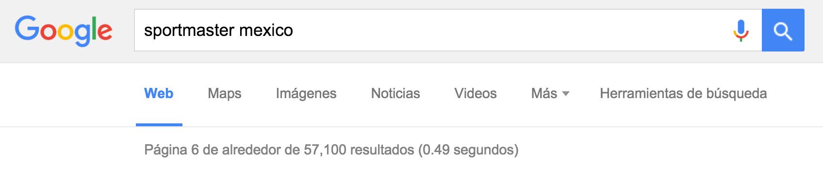 Busqueda que arroja 52mil resultados en Google refiriendose a nuestra empresa